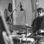 Dennis Tubs De Gier plays the blues on his Ludwig drums set
